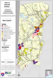 Hopkinton zoning map