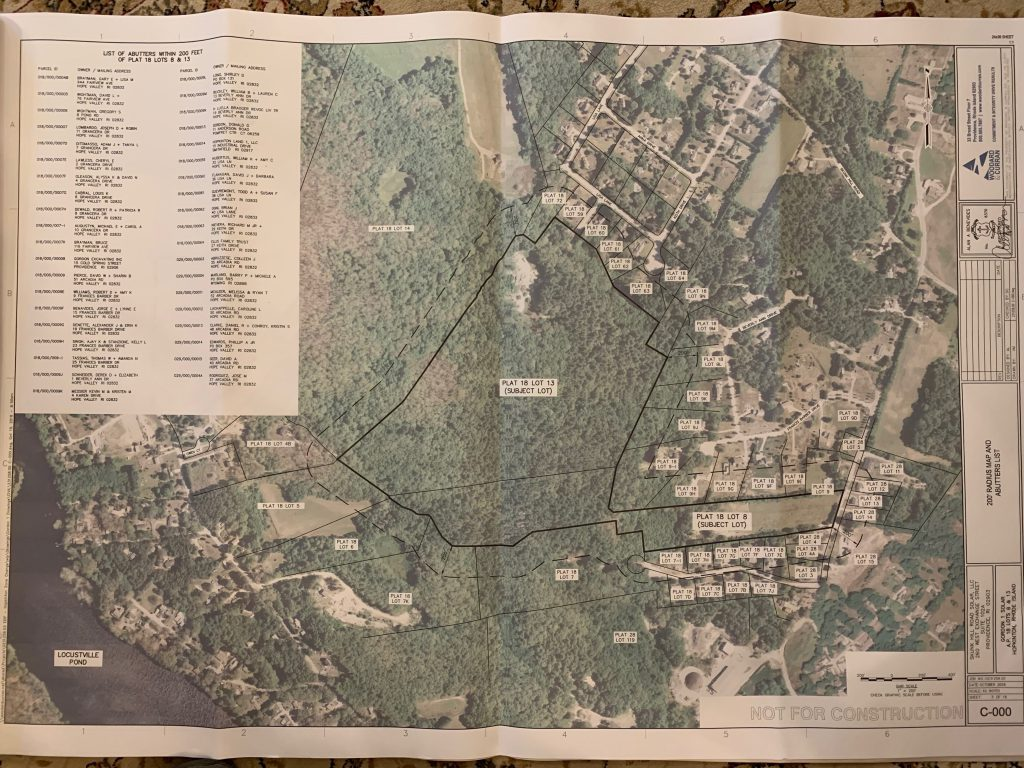 planning map for a proposed solar facility on Skunk Hill Road